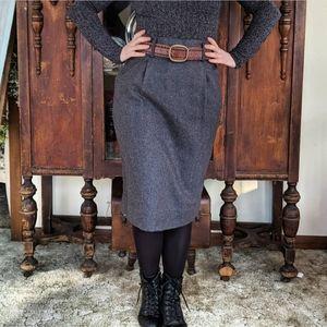 Vintage Cristina Wool blend Skirt